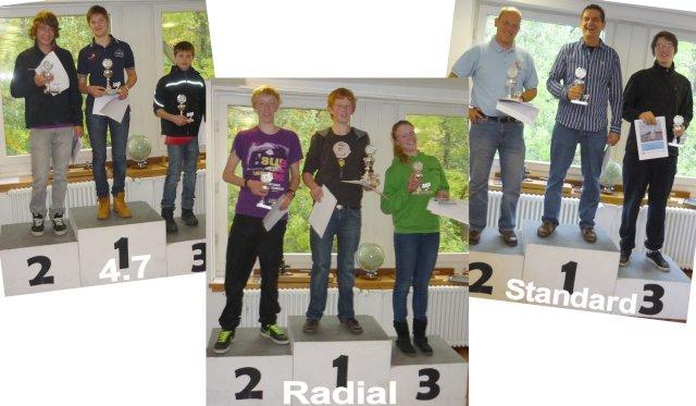 Sieger auf dem Treppchen