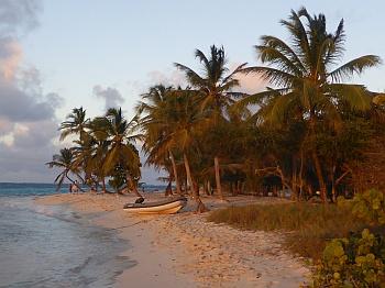 Strand bei den Tobago Cays